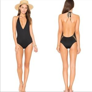 Vitamin A Bianca One Piece Swimsuit Black cutouts